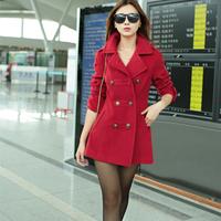 Áo dạ đỏ sành điệu D981