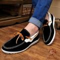 Boat shoe vải nhung cao cấp Glado màu đen  - G24
