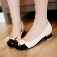 Giày Nơ Công Chúa Gót Vuông Korea shopthaokim