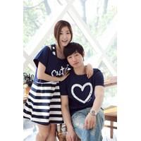 Bộ áo váy cặp tình nhân trái tim Cute-C034