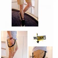 Quần kaki nam short màu da bò phong cách năng động