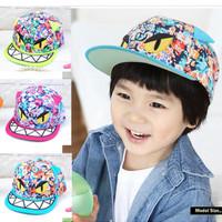 Mũ lưỡi trai trẻ em phối họa tiết nhiều màu, phong cách Hiphop
