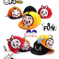 Mũ bóng chày bé trai, gái họa tiết hoạt hình ngộ nghĩnh, mẫu Hàn mới