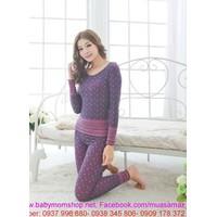 Đồ mặc nhà đơn giản sành điệu cho bạn gái thun cotton chất lượng NN372
