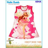 Đầm thun hình công chúa winx xinh đẹp