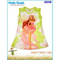 Đầm thun hình công chúa winx xinh xắn