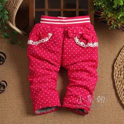 Quần dài nỉ mùa đông bé gái nhập khẩu Hàn Quốc V030