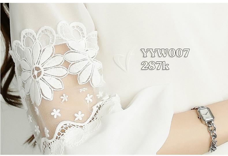 Áo tay lỡ phối ren cao cấp Hàn Quốc - YYW007 5
