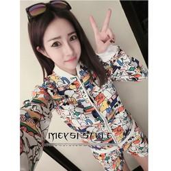 quần áo khoác bộ cartoon Mã: AA423 - TRẮNG