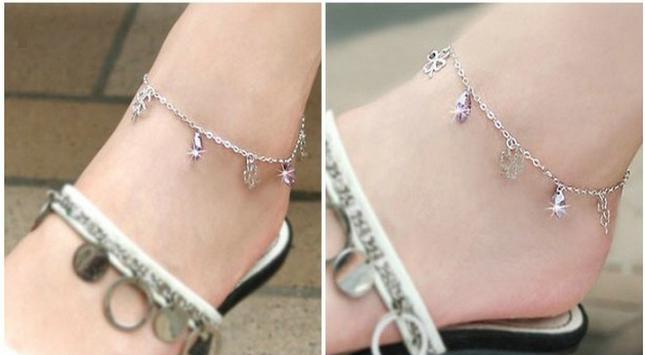 lắc chân trang sức bạc