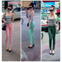 Quần jean skinny color block