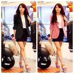 Áo khoác vest tay dài hai túi korea sành điệu