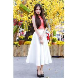 Chân váy xòe đơn giản đẹp như Hương Giang Idol