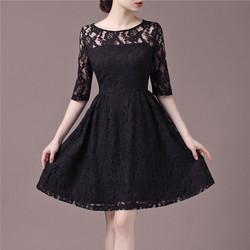 Đầm ren đen cúp ngực sang trọng