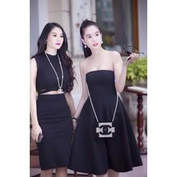 Đầm xòe cúp ngực thiết kế đơn giản sang trọng khi đi tiệc