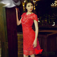Đầm ren thêu style body