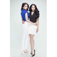 PHỤ NỮ ĐẸP : Set áo váy xếp ly thiết kế giả vest Linh Chi DV455