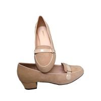 Giày búp bê Taharu da lộn xinh  339-cao 3cm