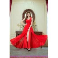 Đầm dạ tiệc chân váy voan xẻ cao kiêu sa quyến rũ sDMX126