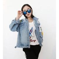 Áo khoác jeans army mỏ neo Mã: AO1691