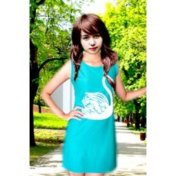 Đầm suông xanh ngỗng trắng  ĐSNTX-115