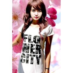 Đầm suông trắng Flower City  ĐSTFLO-115
