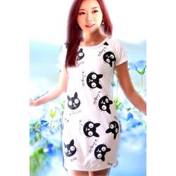 Đầm suông trắng ngộ nghĩnh  ĐSTĐM-115