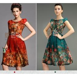 Đầm hoa ẩn thủy, Đầm dự tiệc họa tiết mùa Xuân