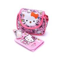 Combo 3 món gồm: Túi đeo, ví cầm tay và đồng hồ thời trang cho bé