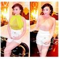 J37-185 Set áo yếm ren quần short