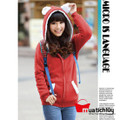 Áo khoác nữ lông xù - Đỏ