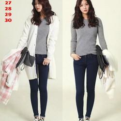 Quần Jeans Nữ Xanh Hàn Quốc
