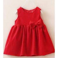 Đầm Nhung Nơ Đỏ