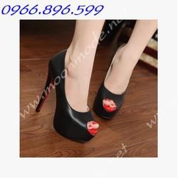 Giày cao gót hở mũi sành điệu ms 90082