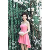Đầm cúp chân váy thiết kế xinh như Tâm Tít màu hồng nhẹ nhàng DV441