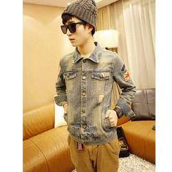 Áo khoác jeans nam rách Mã: NK0583