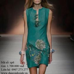 Đầm ôm họa tiết đơn giản