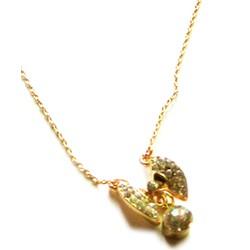 Dây chuyền kim loại vàng, mặt cánh bướm đính hạt  CVI04-298