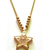 Dây chuyền kim loại vàng, mặt ngôi sao  AC01-255