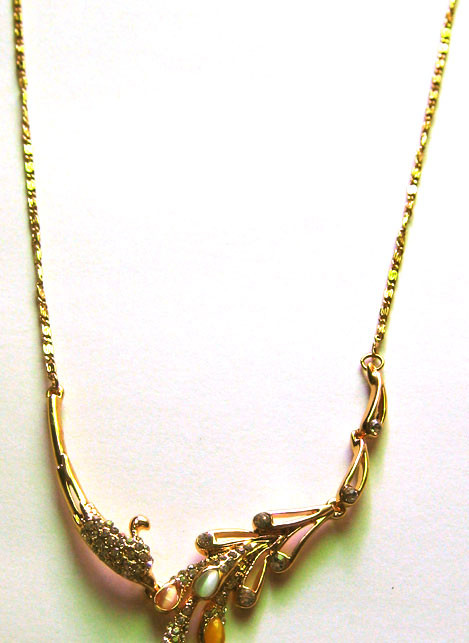 Dây chuyền kim loại vàng AE01-325 1