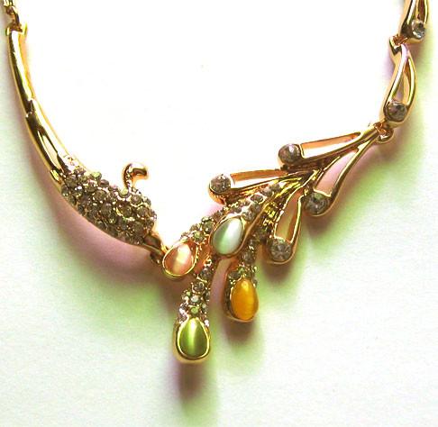 Dây chuyền kim loại vàng AE01-325 2