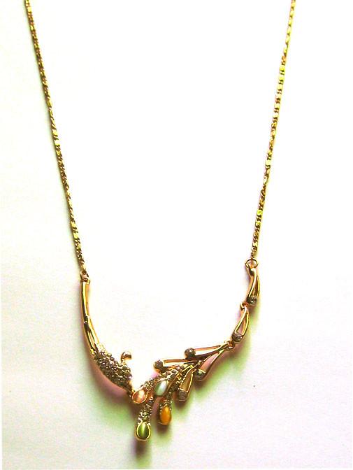 Dây chuyền kim loại vàng AE01-325 4