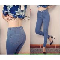 HÀNG SO HOT : Quần jean lưng cao form chuẩn khoe dáng xinh zQJE133