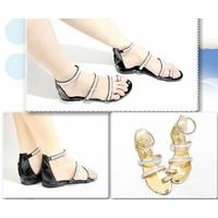 Giày Sandal đính hạt 3 quai xỏ ngón