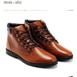 Giày da nam cổ cao cá tính - Mã: GH0146 - NÂU
