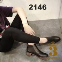 Giày boot cổ thấp chất da phối thun - MSP 2146