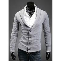 Liberty Shop - Áo khoác cardigan kiểu vest màu xám trắng CA39