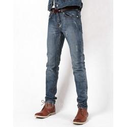 Hằng Jeans - Quần jeans nam ống côn mài bạc xước PT6018