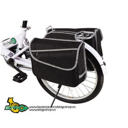 Túi đôi baga xe đạp hình chữ nhật đen