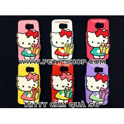 Ốp Kitty cầm quà iPhone 6 6S Samsung S3 S4 S5 S6 Grand 2